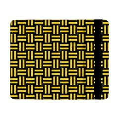 Woven1 Black Marble & Yellow Colored Pencil (r) Samsung Galaxy Tab Pro 8 4  Flip Case