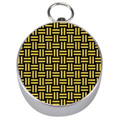 Woven1 Black Marble & Yellow Colored Pencil (r) Silver Compasses