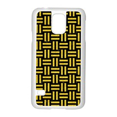 Woven1 Black Marble & Yellow Colored Pencil (r) Samsung Galaxy S5 Case (white)