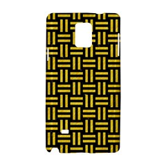 Woven1 Black Marble & Yellow Colored Pencil (r) Samsung Galaxy Note 4 Hardshell Case