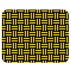 Woven1 Black Marble & Yellow Colored Pencil (r) Double Sided Flano Blanket (medium)