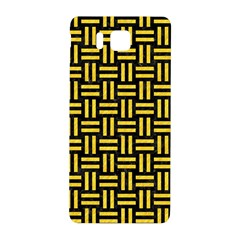 Woven1 Black Marble & Yellow Colored Pencil (r) Samsung Galaxy Alpha Hardshell Back Case
