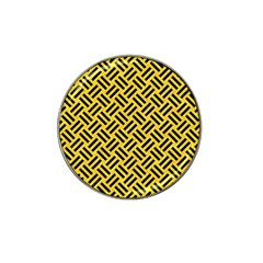 Woven2 Black Marble & Yellow Colored Pencil Hat Clip Ball Marker (4 Pack)