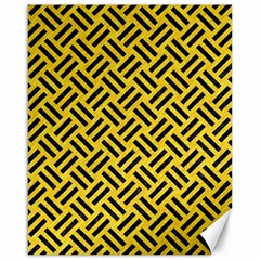 Woven2 Black Marble & Yellow Colored Pencil Canvas 16  X 20