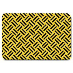 Woven2 Black Marble & Yellow Colored Pencil Large Doormat
