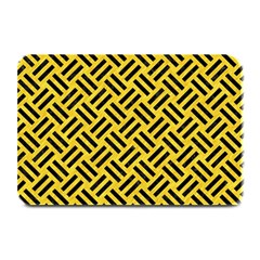 Woven2 Black Marble & Yellow Colored Pencil Plate Mats