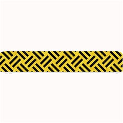 Woven2 Black Marble & Yellow Colored Pencil Small Bar Mats