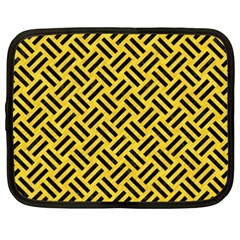 Woven2 Black Marble & Yellow Colored Pencil Netbook Case (xxl)