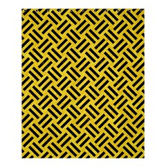 Woven2 Black Marble & Yellow Colored Pencil Shower Curtain 60  X 72  (medium)
