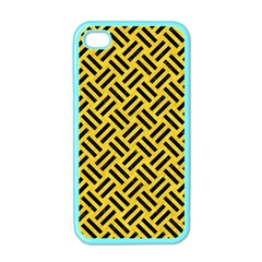 Woven2 Black Marble & Yellow Colored Pencil Apple Iphone 4 Case (color)