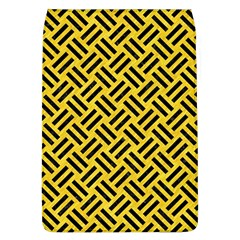 Woven2 Black Marble & Yellow Colored Pencil Flap Covers (l)
