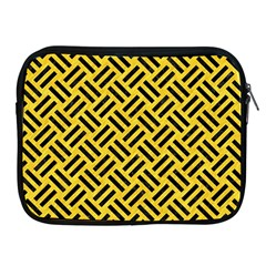 Woven2 Black Marble & Yellow Colored Pencil Apple Ipad 2/3/4 Zipper Cases
