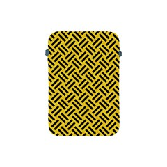 Woven2 Black Marble & Yellow Colored Pencil Apple Ipad Mini Protective Soft Cases