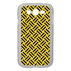 Woven2 Black Marble & Yellow Colored Pencil Samsung Galaxy Grand Duos I9082 Case (white)