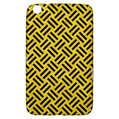 Woven2 Black Marble & Yellow Colored Pencil Samsung Galaxy Tab 3 (8 ) T3100 Hardshell Case