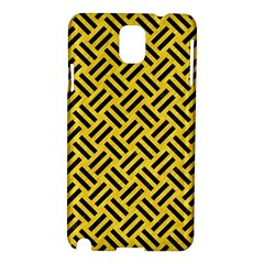 Woven2 Black Marble & Yellow Colored Pencil Samsung Galaxy Note 3 N9005 Hardshell Case