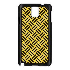 Woven2 Black Marble & Yellow Colored Pencil Samsung Galaxy Note 3 N9005 Case (black)