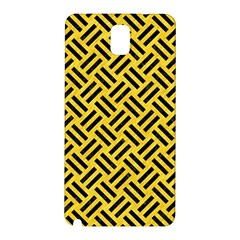 Woven2 Black Marble & Yellow Colored Pencil Samsung Galaxy Note 3 N9005 Hardshell Back Case