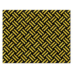 Woven2 Black Marble & Yellow Colored Pencil (r) Rectangular Jigsaw Puzzl