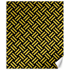 Woven2 Black Marble & Yellow Colored Pencil (r) Canvas 20  X 24