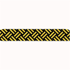 Woven2 Black Marble & Yellow Colored Pencil (r) Small Bar Mats