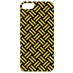 Woven2 Black Marble & Yellow Colored Pencil (r) Apple Iphone 5 Classic Hardshell Case