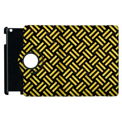 Woven2 Black Marble & Yellow Colored Pencil (r) Apple Ipad 2 Flip 360 Case