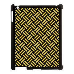 Woven2 Black Marble & Yellow Colored Pencil (r) Apple Ipad 3/4 Case (black)