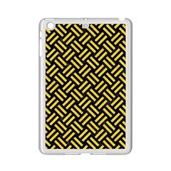 Woven2 Black Marble & Yellow Colored Pencil (r) Ipad Mini 2 Enamel Coated Cases