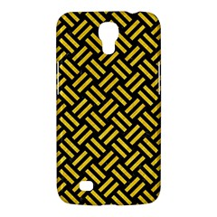 Woven2 Black Marble & Yellow Colored Pencil (r) Samsung Galaxy Mega 6 3  I9200 Hardshell Case