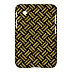Woven2 Black Marble & Yellow Colored Pencil (r) Samsung Galaxy Tab 2 (7 ) P3100 Hardshell Case