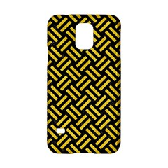Woven2 Black Marble & Yellow Colored Pencil (r) Samsung Galaxy S5 Hardshell Case