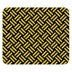 Woven2 Black Marble & Yellow Colored Pencil (r) Double Sided Flano Blanket (small)