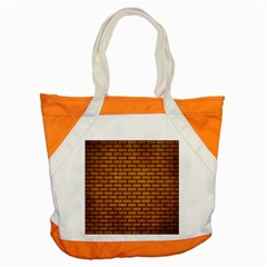 Brick1 Black Marble & Yellow Grunge Accent Tote Bag