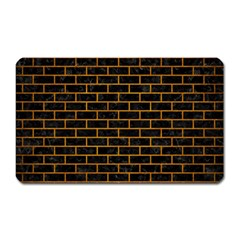 Brick1 Black Marble & Yellow Grunge (r) Magnet (rectangular)