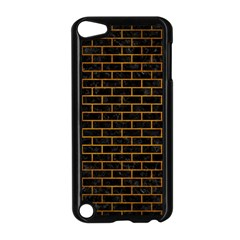 Brick1 Black Marble & Yellow Grunge (r) Apple Ipod Touch 5 Case (black)