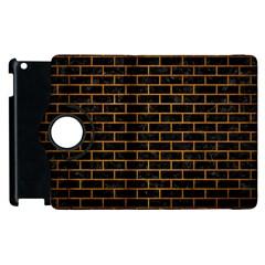 Brick1 Black Marble & Yellow Grunge (r) Apple Ipad 3/4 Flip 360 Case