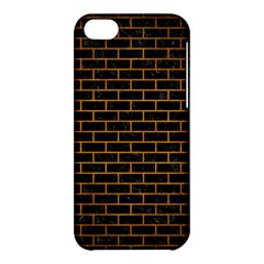 Brick1 Black Marble & Yellow Grunge (r) Apple Iphone 5c Hardshell Case