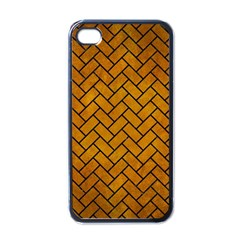 Brick2 Black Marble & Yellow Grunge Apple Iphone 4 Case (black)
