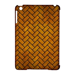 Brick2 Black Marble & Yellow Grunge Apple Ipad Mini Hardshell Case (compatible With Smart Cover)