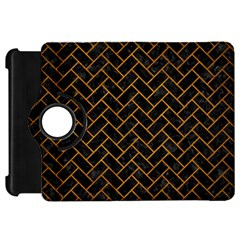 Brick2 Black Marble & Yellow Grunge (r) Kindle Fire Hd 7