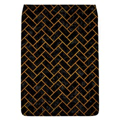 Brick2 Black Marble & Yellow Grunge (r) Flap Covers (s)