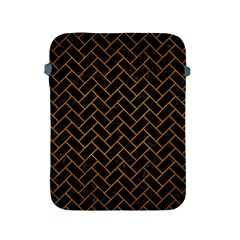 Brick2 Black Marble & Yellow Grunge (r) Apple Ipad 2/3/4 Protective Soft Cases