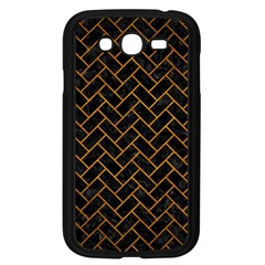 Brick2 Black Marble & Yellow Grunge (r) Samsung Galaxy Grand Duos I9082 Case (black)