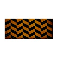 Chevron1 Black Marble & Yellow Grunge Cosmetic Storage Cases