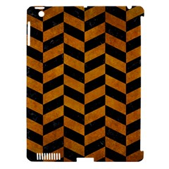 Chevron1 Black Marble & Yellow Grunge Apple Ipad 3/4 Hardshell Case (compatible With Smart Cover)