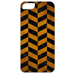 Chevron1 Black Marble & Yellow Grunge Apple Iphone 5 Classic Hardshell Case