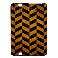 Chevron1 Black Marble & Yellow Grunge Kindle Fire Hd 8 9