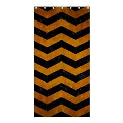 Chevron3 Black Marble & Yellow Grunge Shower Curtain 36  X 72  (stall)