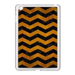Chevron3 Black Marble & Yellow Grunge Apple Ipad Mini Case (white)